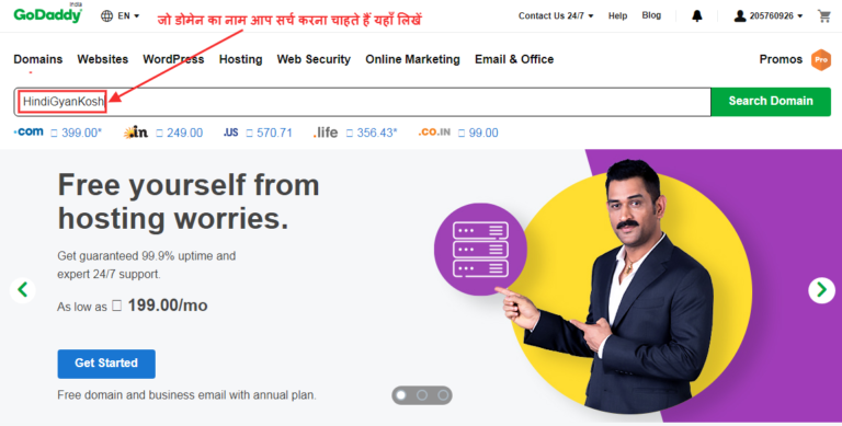 How to purchase Domain from GoDaddy in Hindi